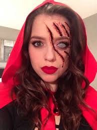 little red riding hood scary makeup