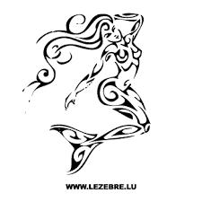 Sexy Tribal Mermaid Sticker