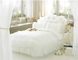 ruffle bedding sets white bed set