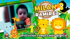 Video Invitacion Cumpleanos Safari Dinamita Producciones Youtube