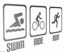 Swim Ride Run Triathlon Triathlete Wall Art Decals Stickers Various Colours Ebay