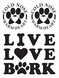 Amazon Com Live Love Bark Vinyl Decals For Car Truck Vehicle Window Dog Pet 3 Stickers Automotive