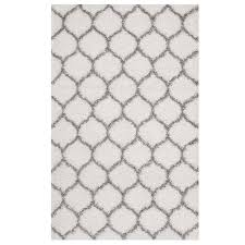 moroccan trellis area rug in ivory