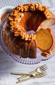 cinnamon swirl bundt cake with salted