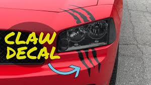 Headlight Claw Decal Installation Where To Buy Youtube