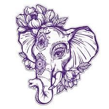 Elephant Henna Purple Vinyl Sticker Waterproof Decal Sticker 5 Walmart Com Walmart Com