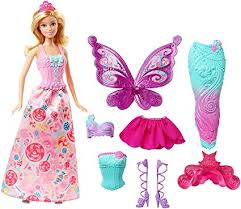amazon com barbie fairytale dress up