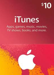apple itunes gift 10 usd ing