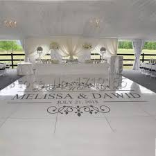 Wedding Dance Floor Vinyl Decal Custom Name Date Wall Stickers Wedding Signs Window Door Personalized Removable Mural Diyzw420 Wall Stickers Aliexpress