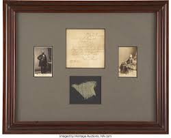 "An Approximately 2"" Square Piece of the Fort Sumter Storm Flag. The 