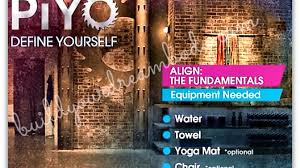 align the fundamentals piyo workout