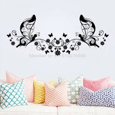 Hot Sellings 114 46cm Classical Black Flower Butterfly Wall Art Living Room Floral Wall Stickers Home Decorations Wall Decals Decorative Wall Decal Wall Decalswall Sticker Aliexpress