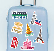 Famous Places Wall Sticker Tenstickers