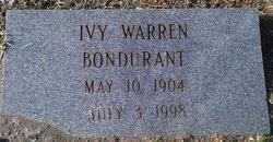 Ivy Simmons Warren Bondurant (1904-1998) - Find A Grave Memorial