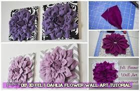 diy beautiful 3d felt dahlia flower
