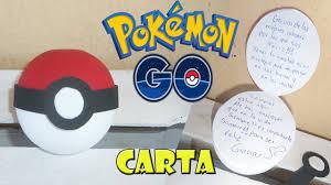 Como Hacer Carta Pokemon Go Pokeball Regalo Para Tu Novio