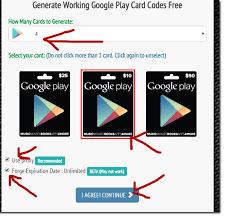 google play gift card code generator no