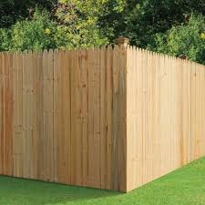 6 Ft X 8 Ft Spruce Pine Fir Stockade Fence Panel 8847 The Home Depot Stockade Fence Privacy Fence Panels Fence Panels