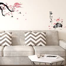 Shop Plum Blossom Wall Stickers Removable Paper Decal For Bedroom Living Room On Sale Overstock 29258246