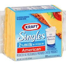 kraft 2 american cheese singles 10 7