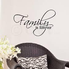 Family Is Forever Vinyl Lettering Wall Decal Sticker 12 5 H X 20 L Black Walmart Com Walmart Com