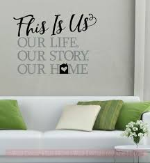 This Is Our Home Sticker Quotes Vinyl Lettering Decals For Home Wall Decor Ebay