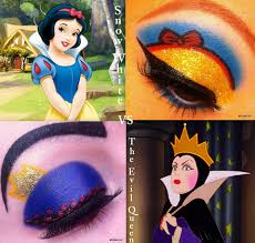 snow white vs evil queen makeup