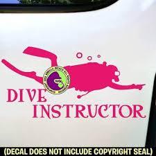 Amazon Com Dive Instructor Scuba Diver Diving Vinyl Decal Sticker C Handmade