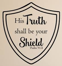 Bible Verse Wall Decal Psalm 91 4 His Truth Shall Be Your Shield Children Room Decor Scripture Wall Art Christian Home Decor Church Wall Decals Wish