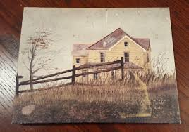 Small 8 X 6 Hand Painted Canvas Oil Painting Farm House Fence 1870957168