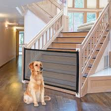 Magic Dog Gate Ingenious Mesh Dog Fence For Indoor And Outdoor Safe Pet Dog Gate Safety