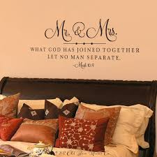 Mr Mrs Wedding Scripture Wall Decal Old Barn Rescue