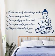 Buddha Wall Decals Quote Only Three Things Matter Yoga Gym Decor Vinyl Wall Sticker Home Interior Design Art Bedroom Decor A049 Decorative Vinyl Wall Stickers Buddha Wall Decalbedroom Decor Aliexpress
