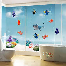 Nicedeal Wonderful Sea World Removable 3d Vinyl Wall Art Stickers Window Decals Bathroom Decor Decoration Stickers For Kids Roomshome Deco And Wall Sticker Kids Room Decor Toys Games Toys Games