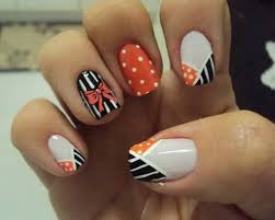 fall orange coffin shape acrylic nails
