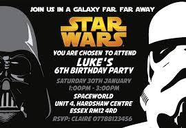 Star Wars Invitaciones De Fiesta Y Sobres Personalizable