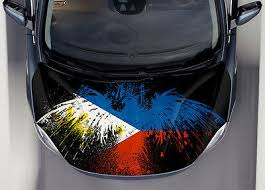 Philippine Flag Car Hood Wrap Full Color Vinyl Sticker Decal Fit Any Car Ebay