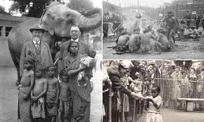 Photos reveal horrifying 'human zoos' in the early 1900s | Daily Mail Online