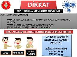 KKTC Sağlık Bakanlığı > Korona Virüsü