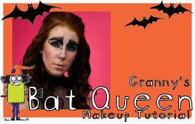 bat queen halloween makeup tutorial