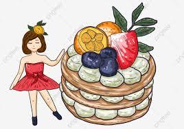 Hình ảnh Vẽ Tay Hoạt Hình Bánh Trái Cây Minh Họa Cô Bé Vẽ Tay Áp Phích Có  Hình Minh Họa, Minh Họa, Vẽ Tay Hoạt Hình Bánh Trái Cây Minh Họa