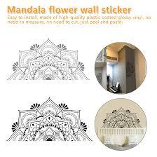 Wall Decal Mandala Half Mandala Vinyl Wall Sticker Yoga Gift Ideas Master Bedroom Headboard Art Pattern Decoration Wall Stickers Aliexpress