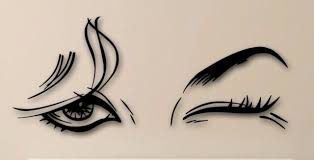 Wall Stickers Vinyl Decal Beautiful Female Eye Makeup Sexy Girl Ig1416 For Sale Online