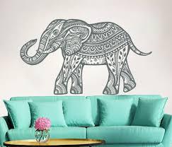 Elephant Wall Decal Boho Decals Indian Boho Bedding Home Decor Etsy