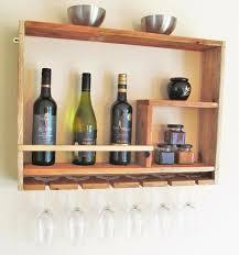 wine rack wine glass rack recycled wood