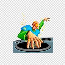 disc jockey ilration cartoon