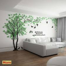 The Wall Decoration Tree Of Life Framed Art Large Grey Canvas Pictures Vinyl Wall Scenes Printa Wall Decals Living Room Green Wall Decor Wall Decor Living Room