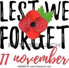 remembrance day poppy banner card lest we forget quote th