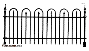 Chain Link Fence Silhouette Vector Clipart Images Pictures