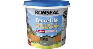 Ronseal Fence Life Plus Wood Paint Grey 5l Compare Prices Now